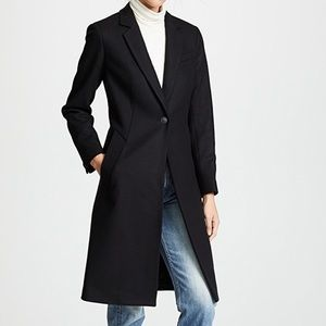 NWT Rag & Bone Daine Tailored Wool Coat BLK Size 4